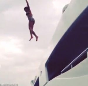 beyonce leaping